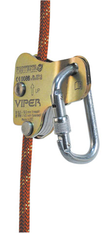 Rope Grab - Automatic 3M Protecta Viper Ac400 suits 11-13mm Kernmantle Rope c/w Screw Lock Karabiner (Horizontal Work only)