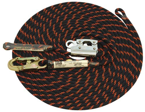 Rope Grab Lifeline System - Manual 3M DBI-Sala 6711-015-36-58 c/w Non-removable Rope Adjuster/11mm Kernmantle Rope/Karabiner/Backsplice (Horizontal Work only) - 15.0M
