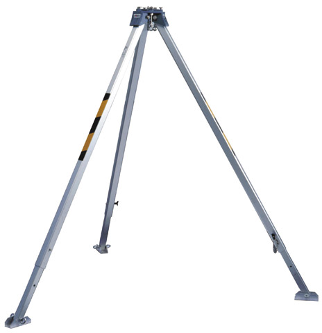 Tripod - Aluminium 3M Protecta AM100 Confined Space 22kN Anchor Point Telescopic Auto Locking Legs - 2.35M