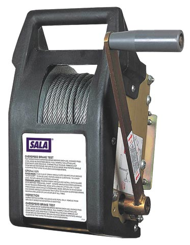 Winch - Descent & Rescue 3M DBI-Sala Salalift II Series 8102001 c/w 6mm Galvanised Wire Rope & Bag - 18.0M