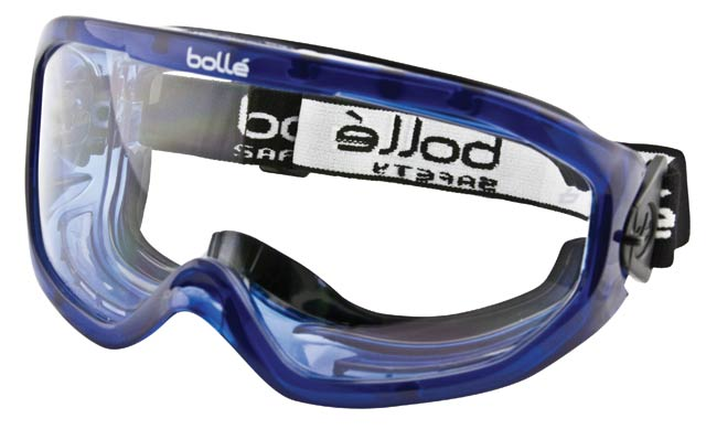 Goggle - Clear Bolle Blast Splash/MI ALS Lens Top Vent Closed Foam Bound