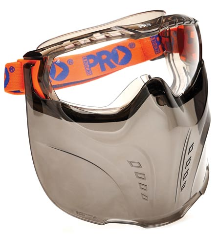 Goggle Shield - Clear ProChoice Vadar Goggle/Mask Combo c/w Headband