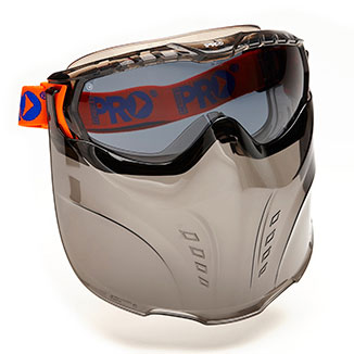 Goggle Shield - Smoke ProChoice Vadar Google/Mask Combo c/w Headband