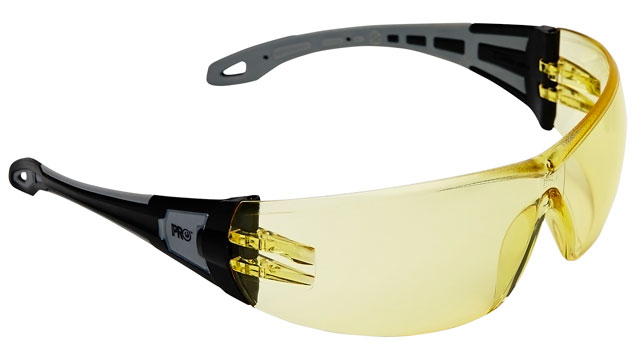 Spectacle - Amber ProChoice The General MI AF/HC Lens Black/Grey Side Arms
