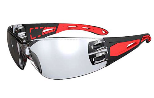 Spectacle - Clear Honeywell Pinnacle HC/AF Lens Black/Red Frame