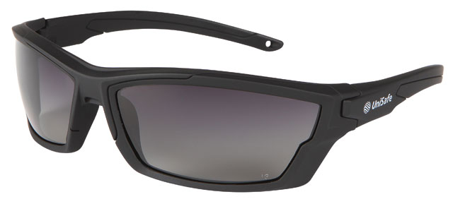 Spectacle - Polarised Smoke Graduated Scott Bark Hut MI Safety HC Lens