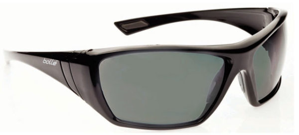 Spectacle - Polarised Grey/Green Bolle Hustler HC Lens Black Frame