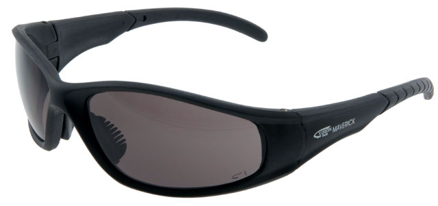 Spectacle - Polarised Smoke VisionSafe Maverick Black Frame