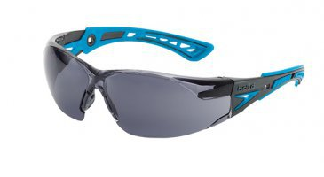 Spectacle - Smoke Bolle Rush Plus Small Black/Blue Temple Platinum AS/AF Lens