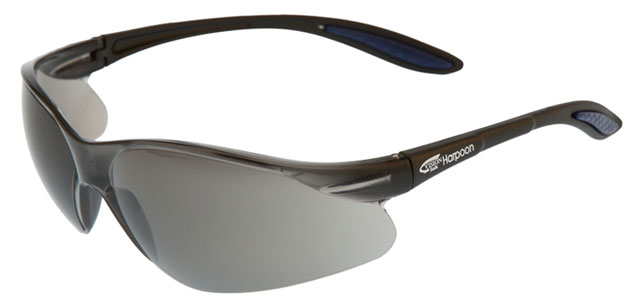 Spectacle - Smoke VisionSafe Harpoon HC Lens Black Frame