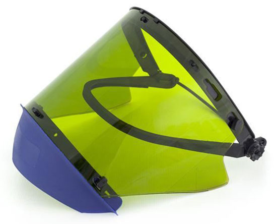 Visor Kit - Light Green Elliott ArcSafe ArcFit c/w Chin Guard & Visor Holder