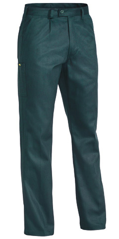 Trouser - Bisley Cotton Drill 310gsm Pleat Front  Green - 132S