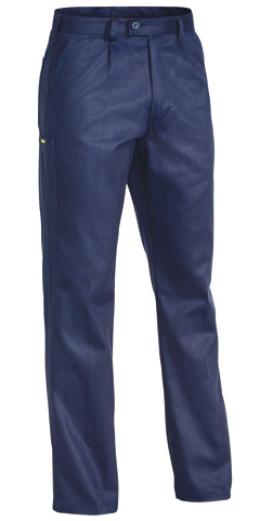 Trouser - Bisley Cotton Drill 310gsm Pleat Front  Navy - 132S