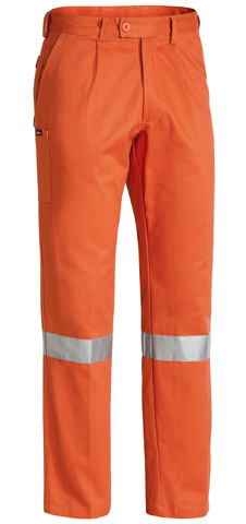 Trouser - Bisley Cotton Drill 310gsm Pleat Front c/w Tape Navy - 74L