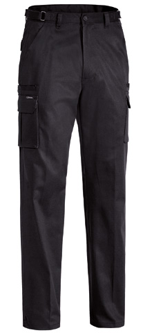 Trouser - Bisley Cotton Drill 310gsm Cargo 8 Pocket Black - 132S