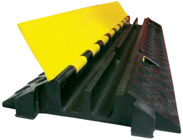 Cable Protector - Light Vehicle 2 Channel 1000mm x 250mm x 50mm HI VIS Yellow