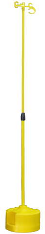 Lead Stand - Poly Base MAXSafe Fibregalss Pole 1.2M - 2.4M (H) c/w Lead Holder