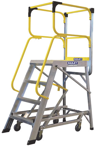 Platform - Access Bailey Temporary Work Platform c/w Wheels 4 Step 1.10M Platform 3.1M Reach