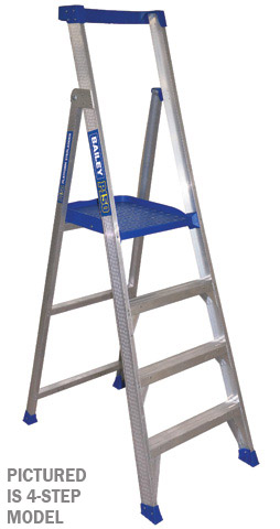 Ladder - Platform Aluminium Bailey P150 Stepladder 150kg - 3 Step 0.9M Platform