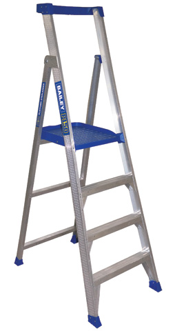 Ladder - Platform Aluminium Bailey P150 Stepladder 150kg - 4 Step 1.2M Platform