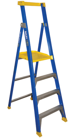 Ladder - Platform Fibreglass Bailey P150 Stepladder 150kg - 4 Step 1.2M Platform