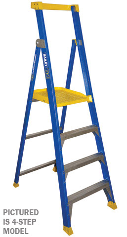Ladder - Platform Fibreglass Bailey P150 Stepladder 150kg - 5 Step 1.5M Platform