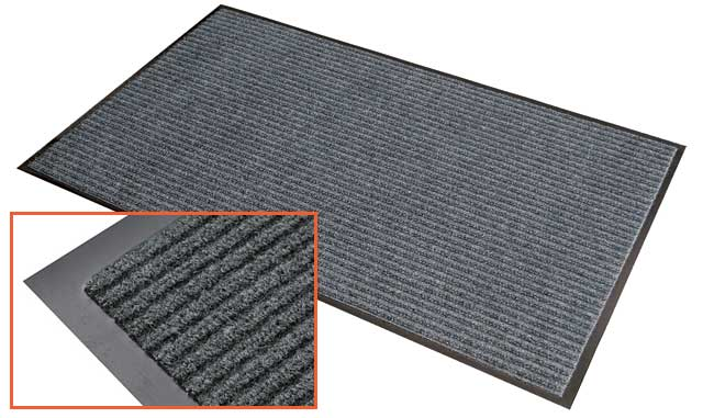 Mat - matTEK Ribbed Office/Commercial Entrance Mat 600mm x 900mm - Pepper