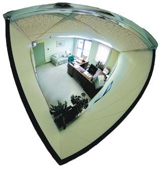 Mirror Dome - Xtreme Vision Quarter Dome Corner Mount 457mm