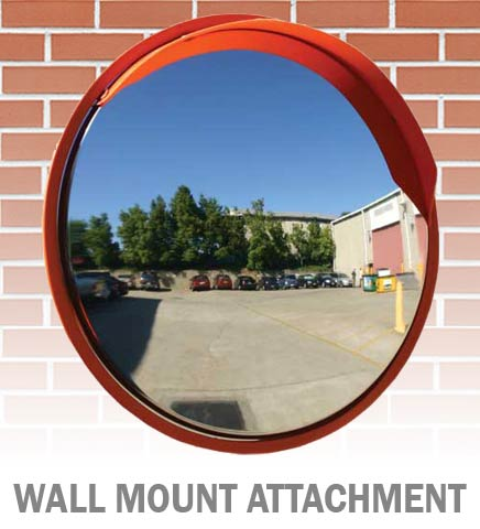 Mirror Bracket - Xtreme Vision Wall Mount Attachment for Convex Traffic Mirror