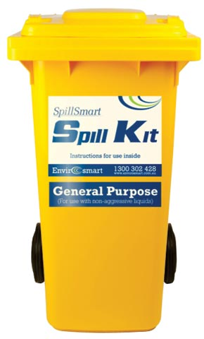 Spill Kit - General Purpose SpillSmart Wheelie Bin - 120 L