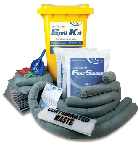 Spill Kit - General Purpose SpillSmart Wheelie Bin - 240 L