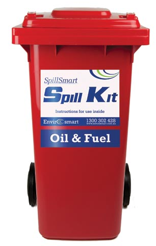 Spill Kit - Hydrocarbon On Water SpillSmart Wheelie Bin - 120 L