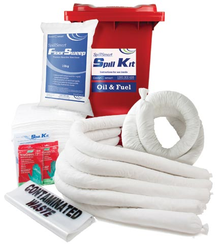Spill Kit - Hydrocarbon On Water SpillSmart Wheelie Bin - 240 L
