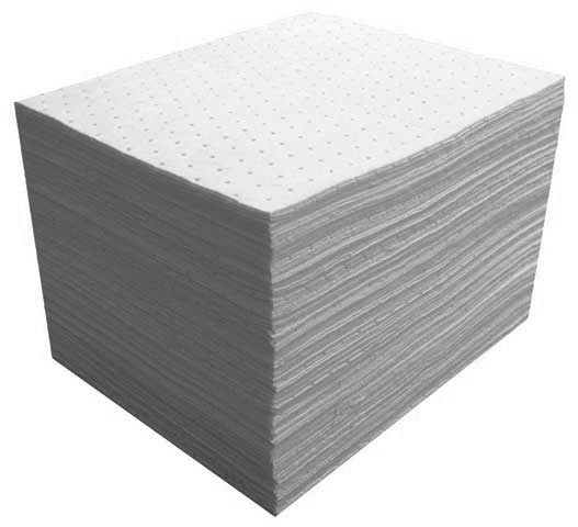 Spill Pad - Hydrocarbon Oil Only SpillSmart Poly Heavyweight 400gsm 48cm x 43cm - Dimpled & Perforated