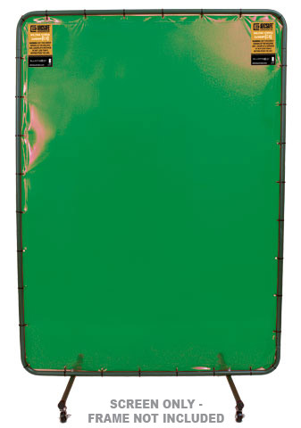 Welding Screen - 'ArcSafe' 1.8M(H) x 1.3M(W) c/w Eyelets - Green
