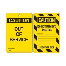 Lockout Tag - Brady 842390 Poly 'Out of Service' 150x100mm Pack 10