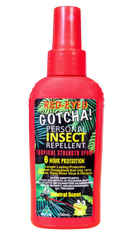 Insect Repellent - Red-Eyed Gotcha 6 hr Tropical Strength - 100ml Pump