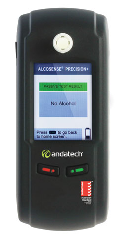 Breathalyser - Workplace Andatech Precision Plus c/w 100 Mouthpieces (Combo)