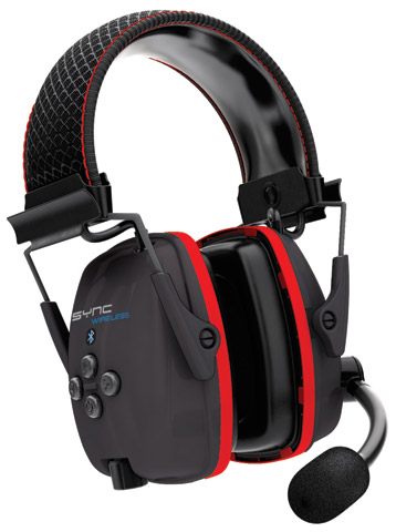 Earmuff - Headband Howard Leight Sync Wireless Bluetooth c/w Cable & Charger Black (CL 5 - 31dB)