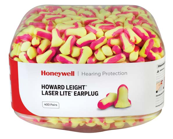 Earplug Refill Canister - Howard Leight LaserLite LL-1 (CL4 - 25dB) for HL400 Dispenser - Uncorded Yellow/Pink (CAN/400PR)