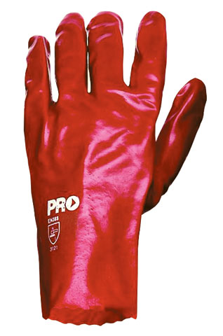 Glove - PVC 27cm Single Dipped Interlock Lined ProChoice (No Chemical Rating) Red