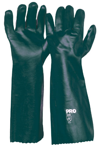 Glove - PVC 45cm Double Dipped Jersey Lined ProChoice (No Chemical Rating) Green