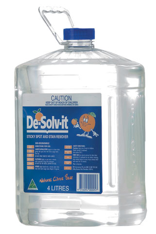 Cleaner - Solvent De-Solv-It Multi Purpose Water Rinseable - 4L Container