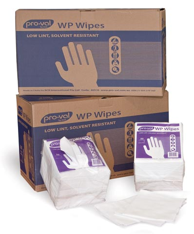 Wipes - Pro-Val WP Solvent Wipe 35cm x 30cm Dispenser Style - White