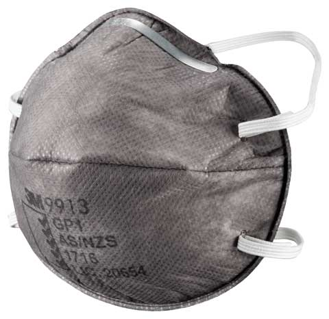 Respirator - Disposable 3M 9913 GP1 Cupped Particulate/Nuisance Vapours & Odours