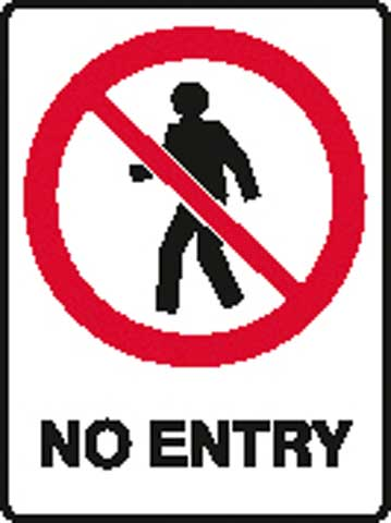 Sign - Poly Prohibition 'No Entry' 450mm x 600mm