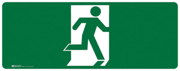 Sign - Vinyl SS Luminous Man Running 'Right' 180mm x 450mm