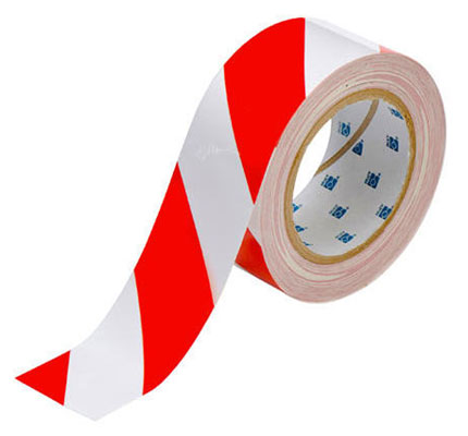 Tape - Polyester Indoor Floor Marking Toughstripe 51mm x 30M - Red/White