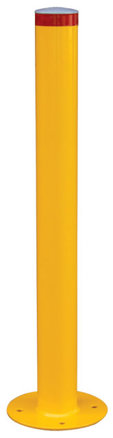 Bollard Surface Mounted Economy - Galvanised & Powder Coated Yellow 140mm(D) x 1200mm(H) 18.4kg Wall Thickness 3.5mm