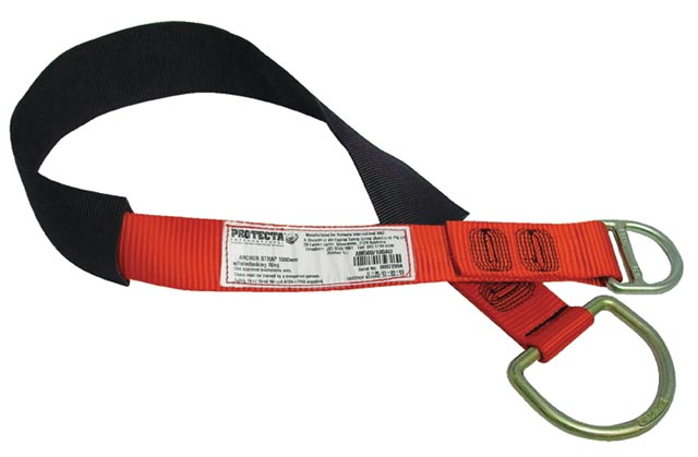 Anchor Strap - Flat Webbing 3M Protecta 500150 Tie-Off c/w Interlocking Rings 21kN - 1.5M
